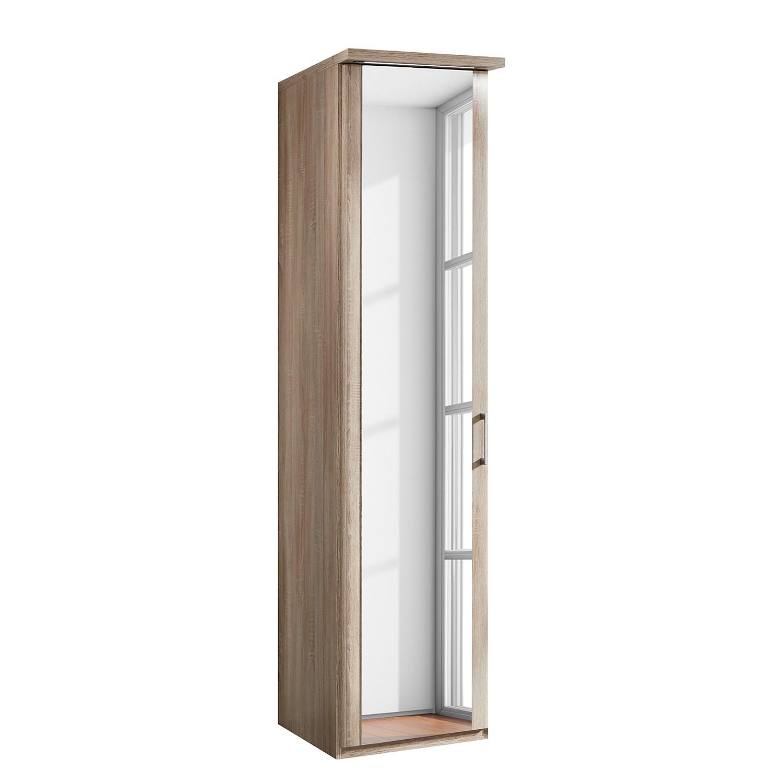 EEK A+, Armoire à portes battantes Meran - Imitation chêne brut de sciage - Eclairage LED - 50 cm (1