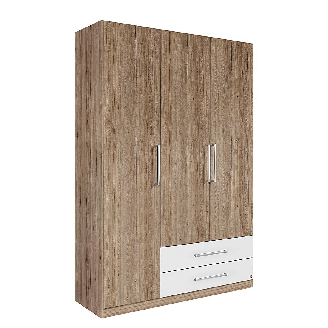 Draaideurkast Potsdam - San Remo eikenhouten look/alpinewit - 91cm (2-deurs) - 210cm, Rauch Packs