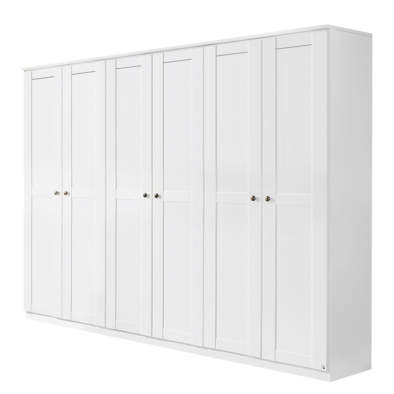 Armoire à portes battantes Rosenheim - Blanc alpin - 271 cm (6 portes), Rauch Packs