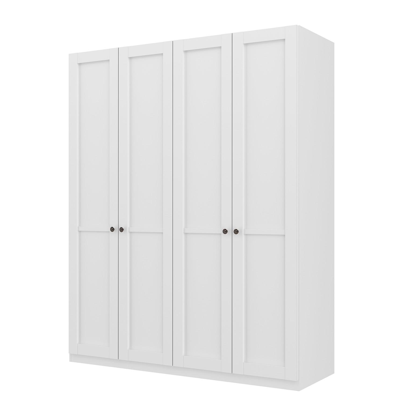 Armoire à portes battantes Skøp - Blanc alpin - 181 cm (4 portes) - 222 cm - Basic, SKØP