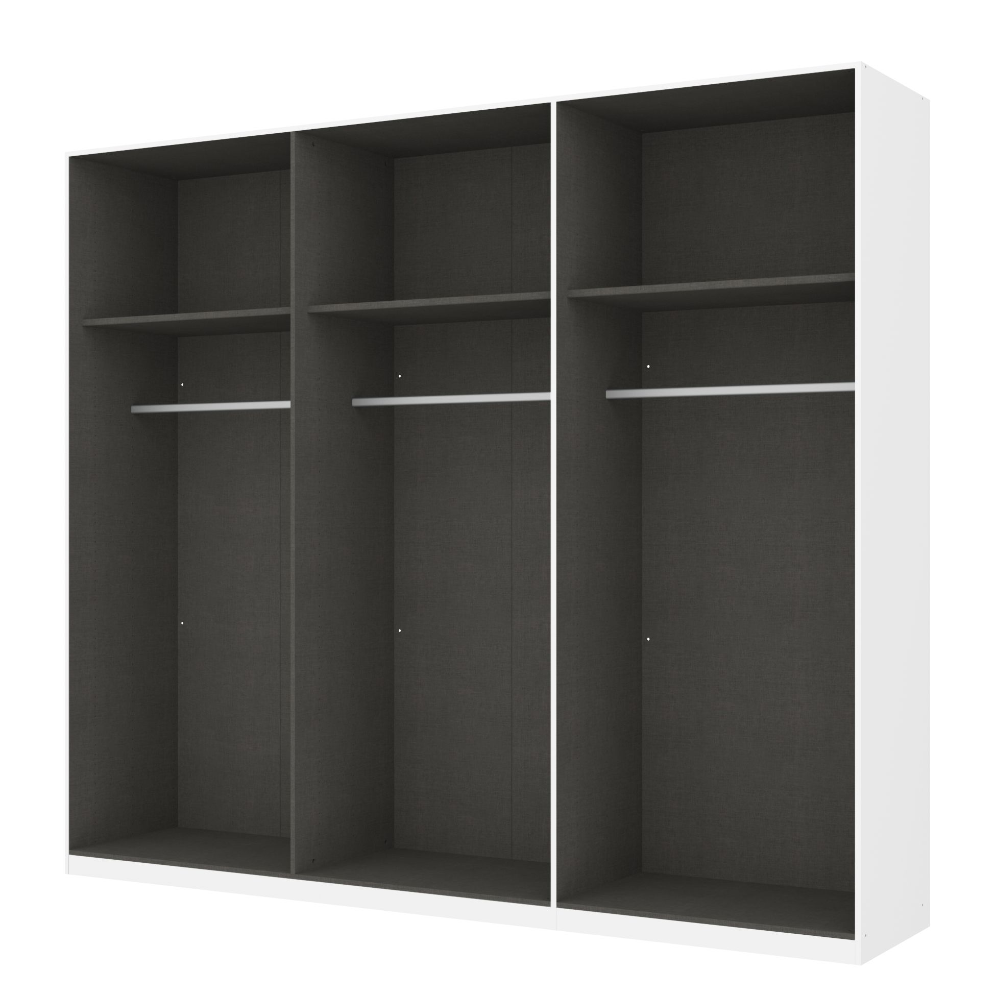 kleiderschrank sk p alpinwei offen 270 cm 6 t rig. Black Bedroom Furniture Sets. Home Design Ideas