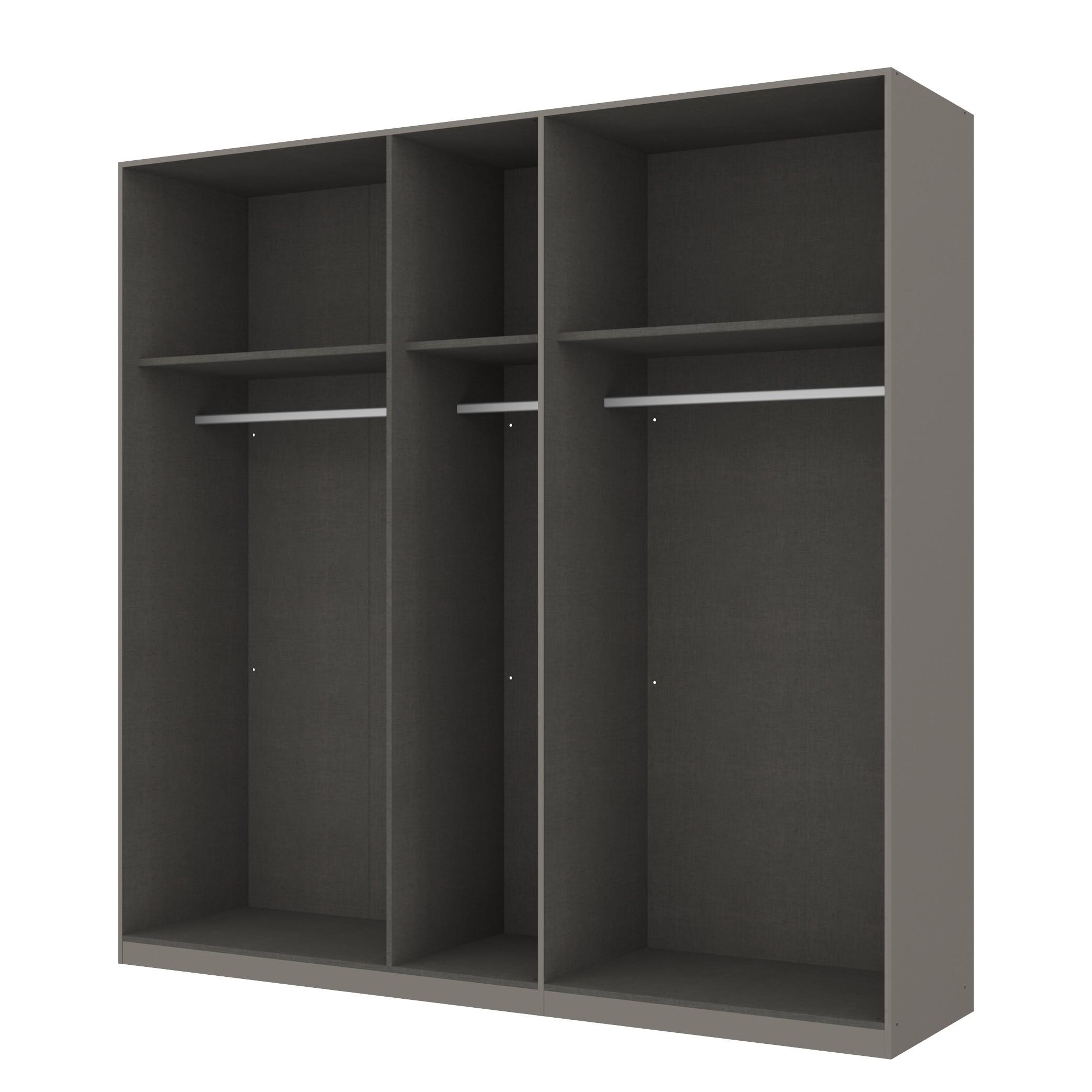 Kleiderschrank SKØP - Graphit/ Offen - 225 cm (5-türig) - 222 cm - Classic