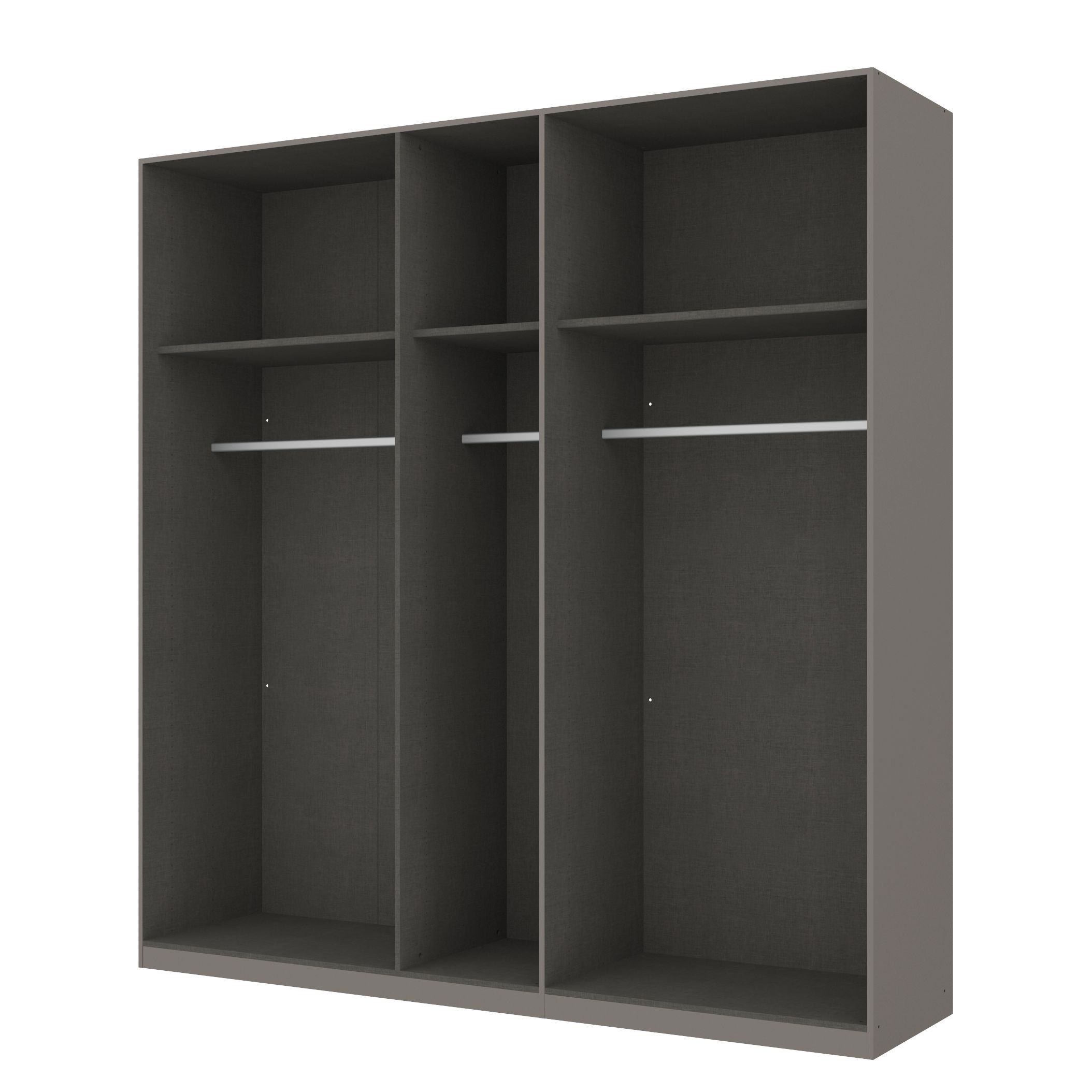 kleiderschrank sk p graphit offen 225 cm 5 t rig. Black Bedroom Furniture Sets. Home Design Ideas