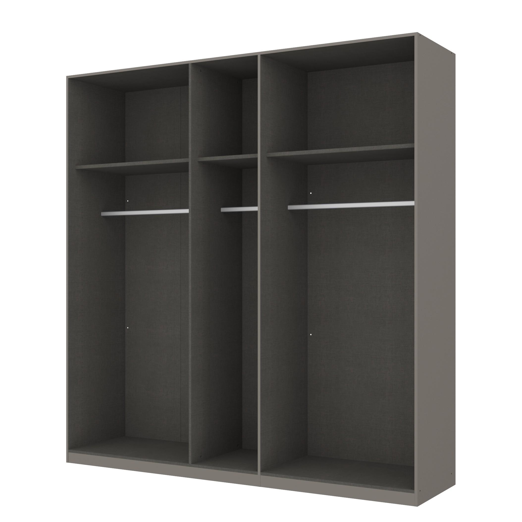 Kleiderschrank SKØP - Graphit/ Offen - 225 cm (5-türig) - 236 cm - Premium