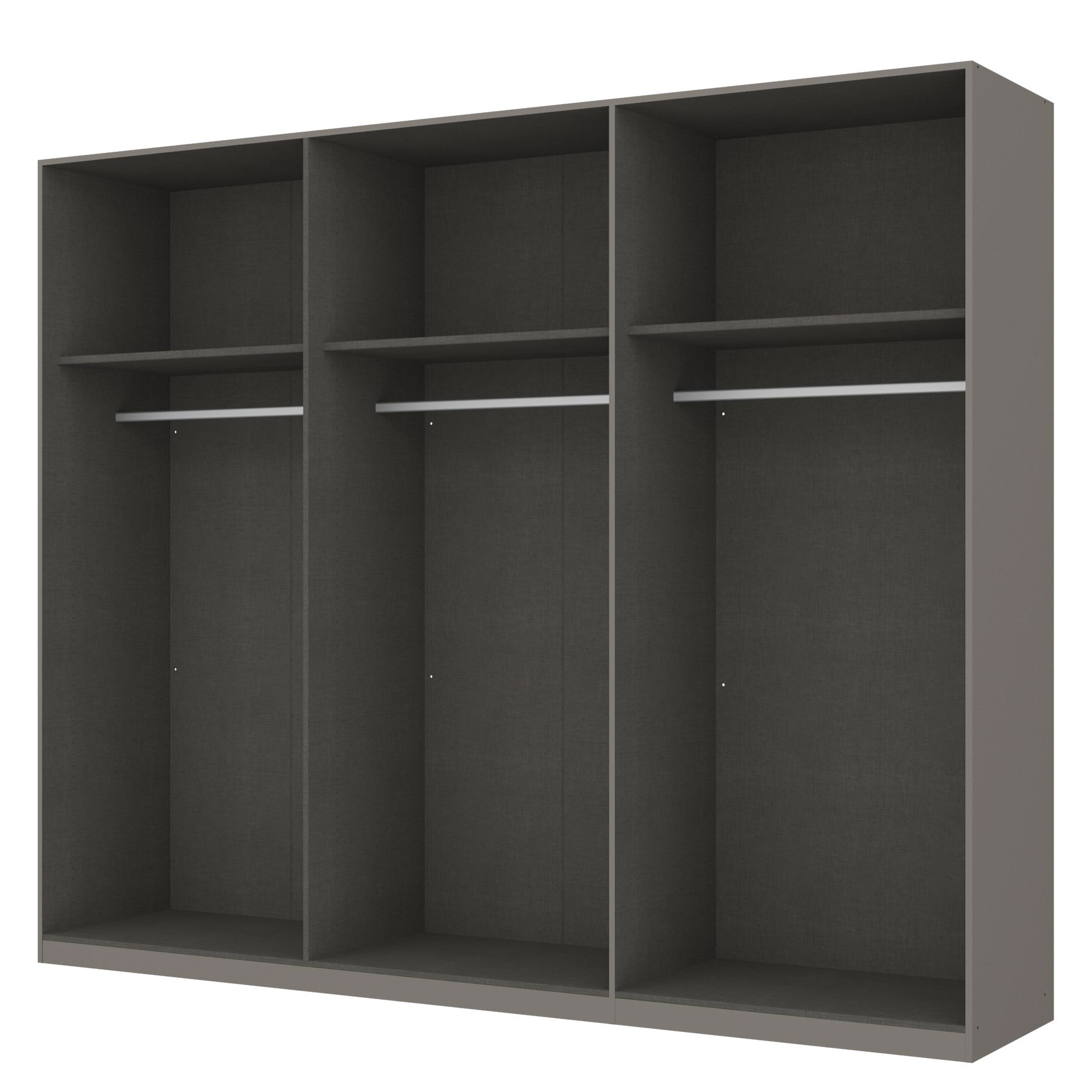kleiderschrank sk p graphit offen 270 cm 6 t rig. Black Bedroom Furniture Sets. Home Design Ideas
