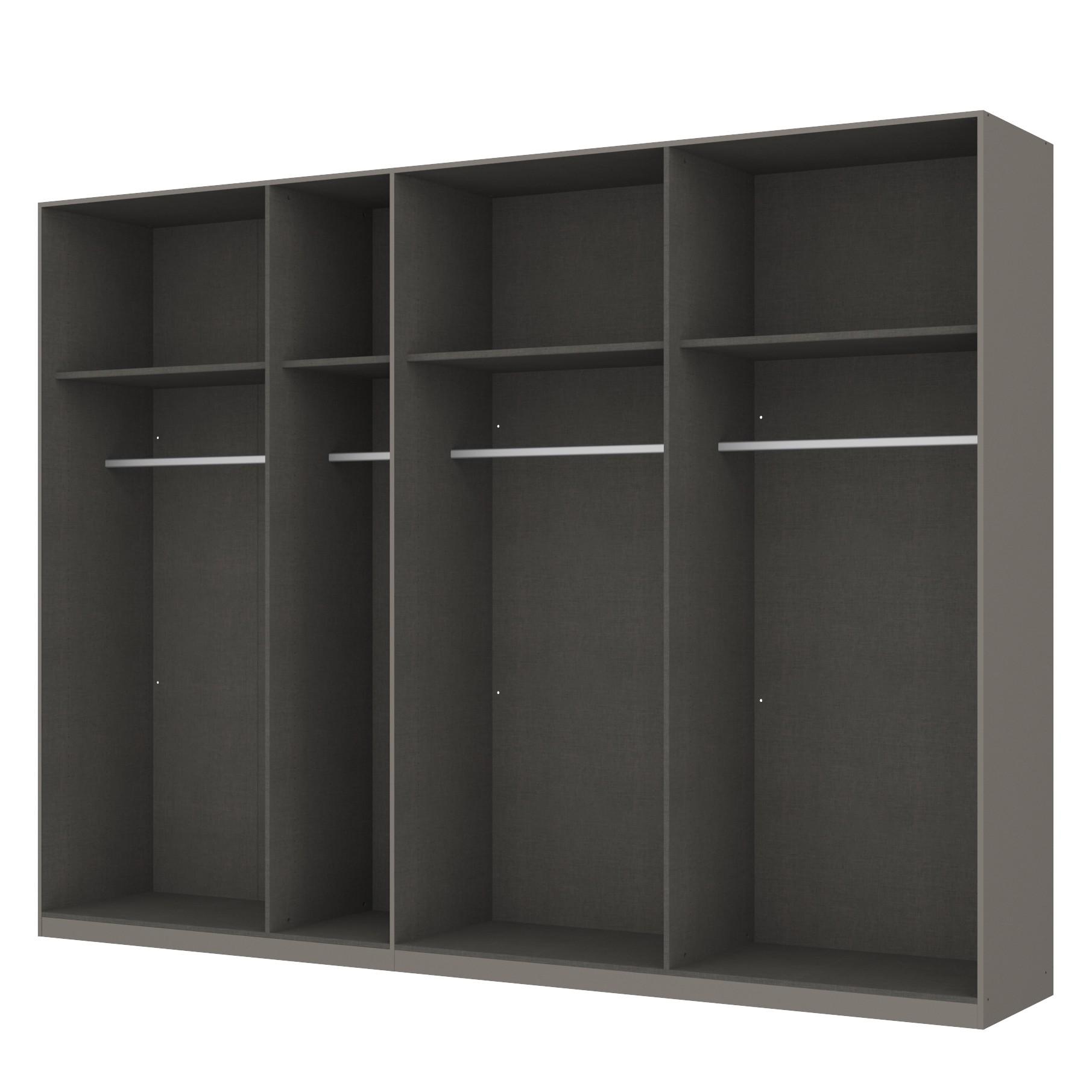 Kleiderschrank SKØP - Graphit/ Offen - 315 cm (7-türig) - 236 cm - Premium