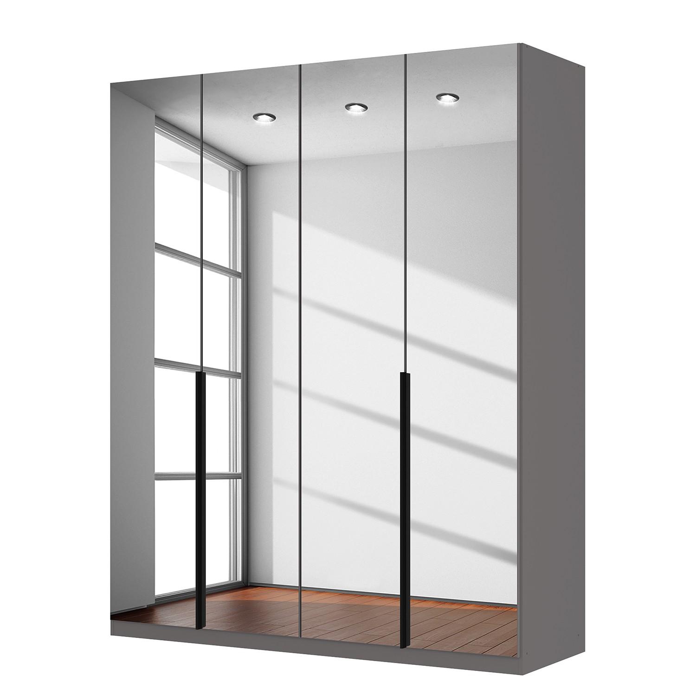 Draaideurkast Skøp - donker spiegelglas - 181cm (4-deurs) - 222cm - Comfort, SKØP
