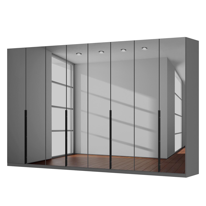 Draaideurkast Skøp - donker spiegelglas - 360cm (8-deurs) - 222cm - Premium, SKØP