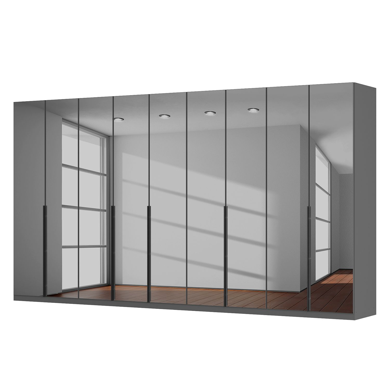 Drehtürenschrank SKØP - Grauspiegel - 405 cm (9-türig) - 222 cm - Classic