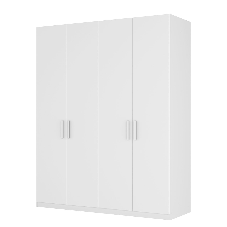 Armoire à portes battantes Skøp I - Blanc alpin - 181 cm (4 portes) - 222 cm - Basic, SKØP