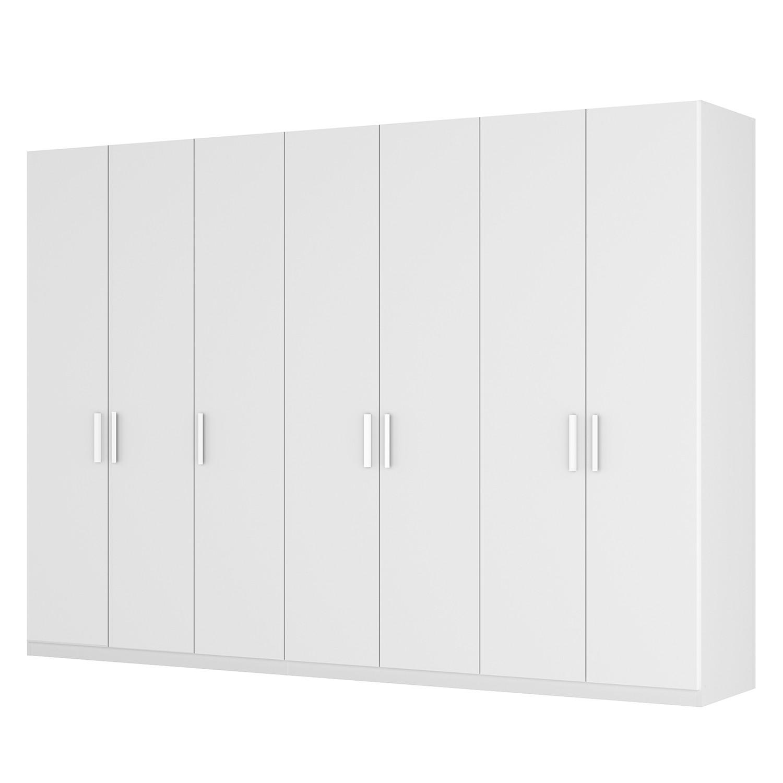 Armoire à portes battantes Skøp I - Blanc alpin - 315 cm (7 portes) - 222 cm - Basic, SKØP