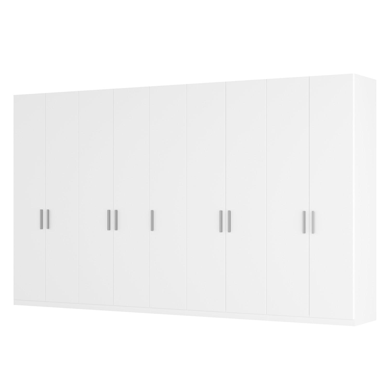 Drehtürenschrank SKØP I - Alpinweiß - 405 cm (9-türig) - 236 cm - Premium