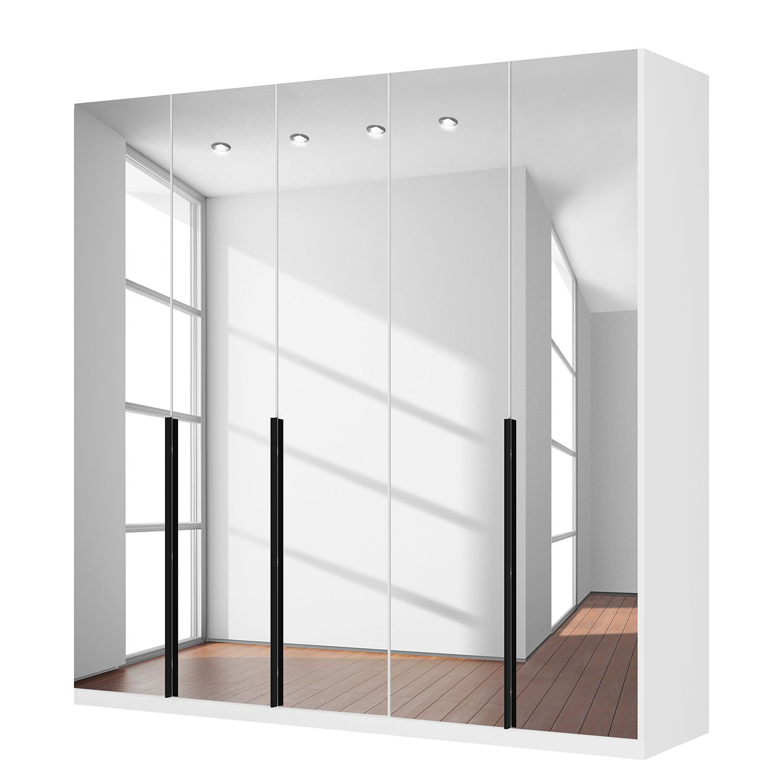 Draaideurkast Skøp I - alpinewit/kristalspiegel - 225cm (5-deurs) - 222cm - Classic, SKØP