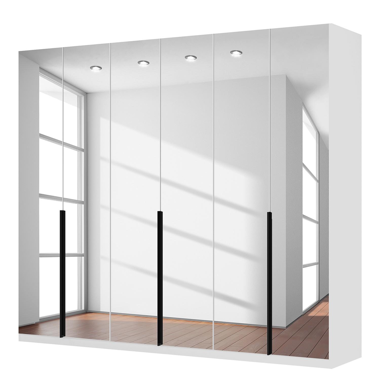 Draaideurkast Skøp I - alpinewit/kristalspiegel - 270cm (6-deurs) - 236cm - Classic, SKØP