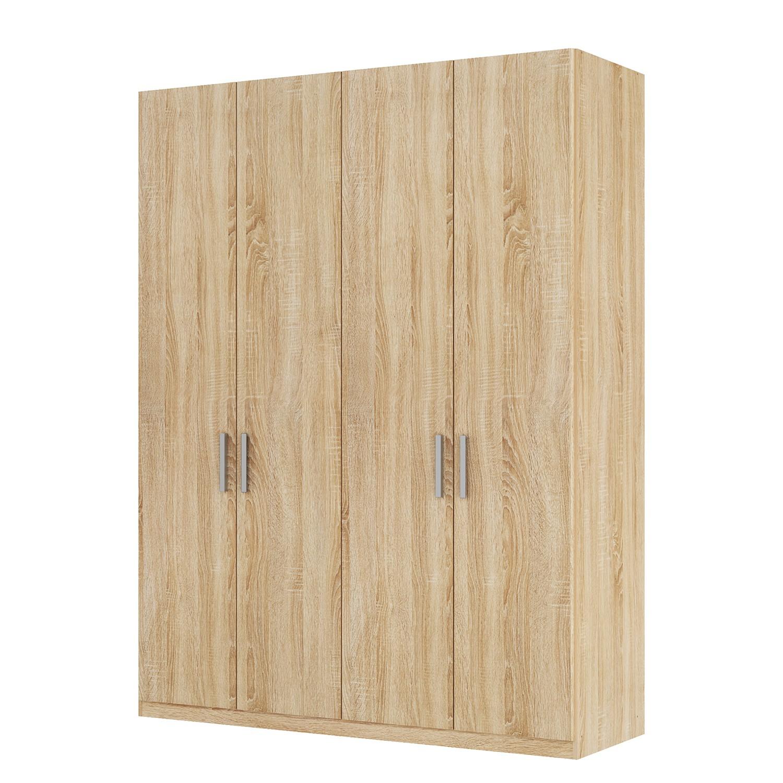Armoire à portes battantes Skøp I - Imitation chêne de Sonoma - 181 cm (4 portes) - 222 cm - Basic,