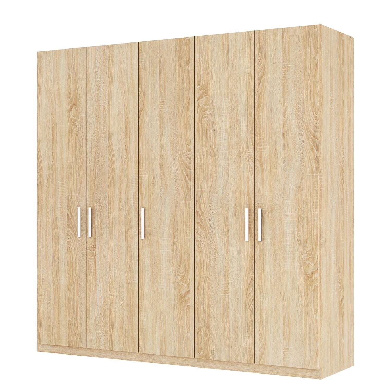 Draaideurkast Skøp I - Sonoma eikenhouten look - 225cm (5-deurs) - 222cm - Classic, SKØP