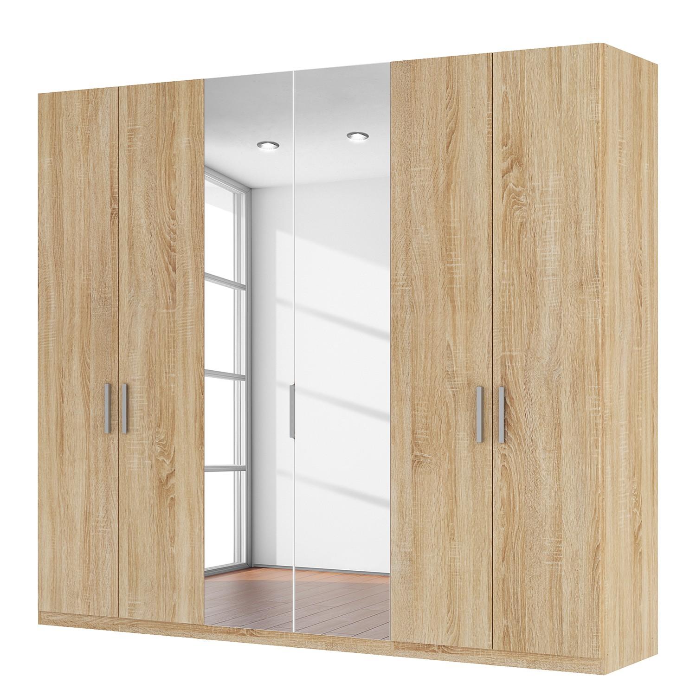 Drehtürenschrank SKØP I - Eiche Sonoma Dekor/ Kristallspiegel - 270 cm (6-türig) - 236 cm - Premium