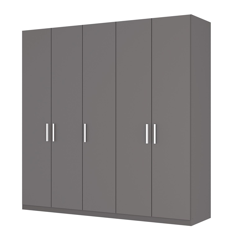 Draaideurkast Skøp I - grafietkleurig - 225cm (5-deurs) - 222cm - Comfort, SKØP