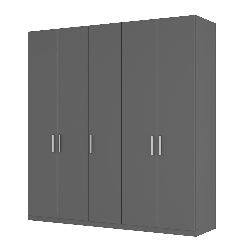 Drehtürenschrank SKØP I - Graphit - 225 cm (5-türig) - 236 cm - Basic
