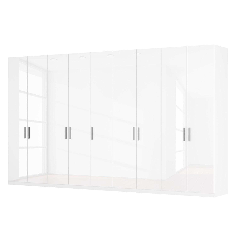 Drehtürenschrank SKØP I - Hochglanz Weiß - 405 cm (9-türig) - 236 cm - Premium