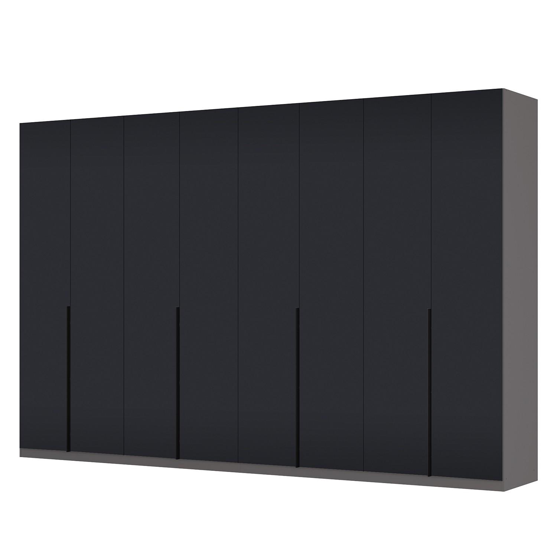 Drehtürenschrank SKØP I - Graphit / Mattglas Schwarz - 360 cm (8-türig) - 236 cm - Premium