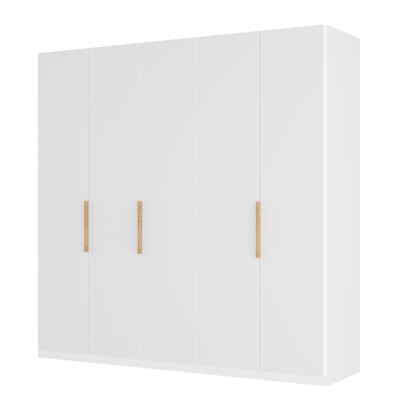 Drehtürenschrank SKØP I - Mattglas Weiß - 225 cm (5-türig) - 236 cm - Classic