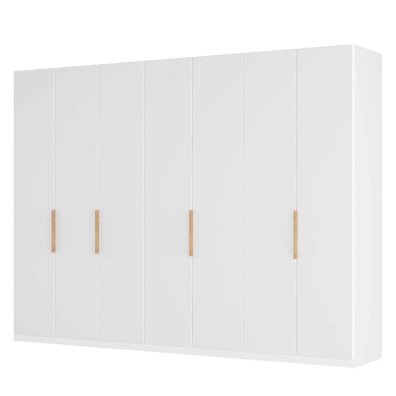 Drehtürenschrank SKØP I - Mattglas Weiß - 315 cm (7-türig) - 222 cm - Classic