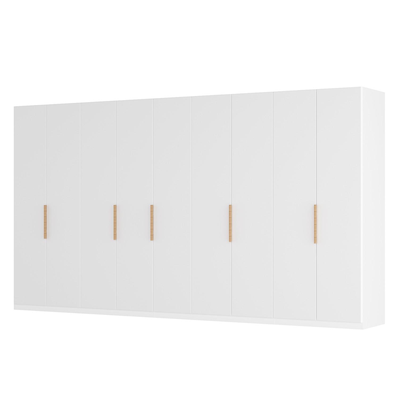 Draaideurkast Skøp I - wit matglas - 405cm (9-deurs) - 222cm - Classic, SKØP