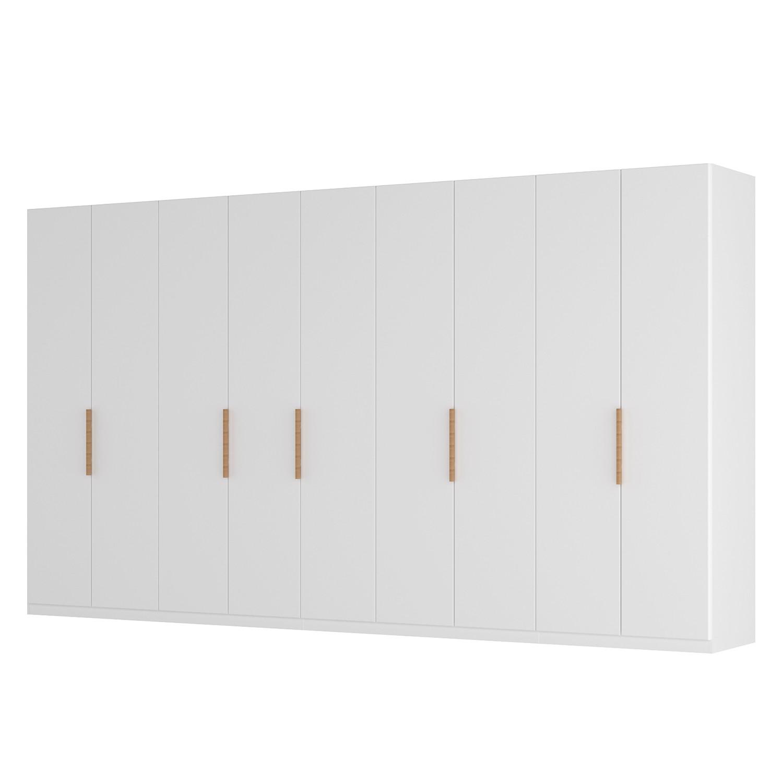 Drehtürenschrank SKØP I - Mattglas Weiß - 405 cm (9-türig) - 236 cm - Basic