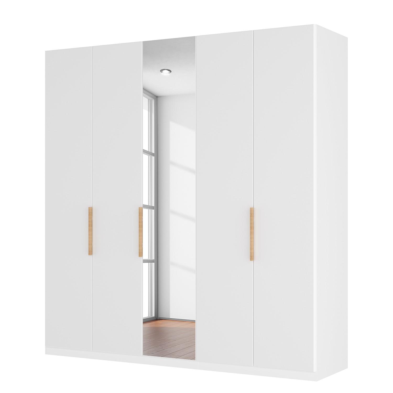 Draaideurkast Skøp I - hoogglans wit/kristalspiegel - 225cm (5-deurs) - 222cm - Premium, SKØP