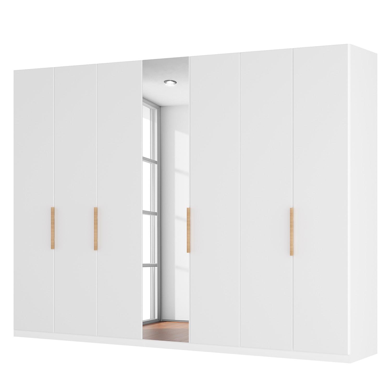 armoire portes battantes sk p i verre blanc mat miroir en cristal. Black Bedroom Furniture Sets. Home Design Ideas