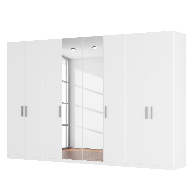 Drehtürenschrank SKØP II - Alpinweiß/ Kristallspiegel - 360 cm (8-türig) - 236 cm - Premium