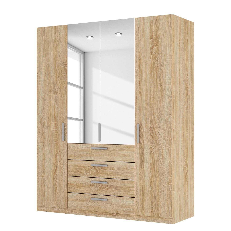 armoire portes battantes sk p ii imitation ch ne de sonoma miroir en. Black Bedroom Furniture Sets. Home Design Ideas