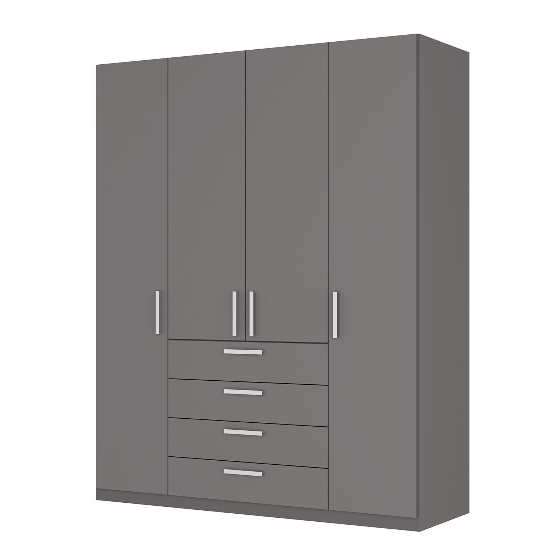 Draaideurkast Skøp II - grafietkleurig - 181cm (4-deurs) - 222cm - Premium, SKØP
