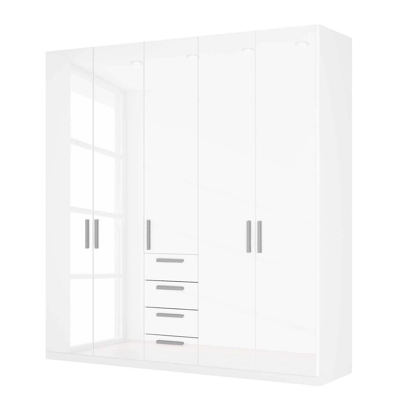 Draaideurkast Skøp II - hoogglans wit - 225cm (5-deurs) - 236cm - Basic, SKØP