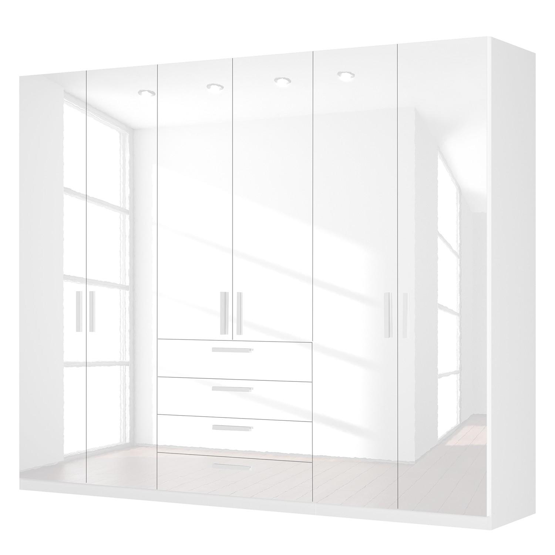 Draaideurkast Skøp II - hoogglans wit - 270cm (6-deurs) - 222cm - Basic, SKØP