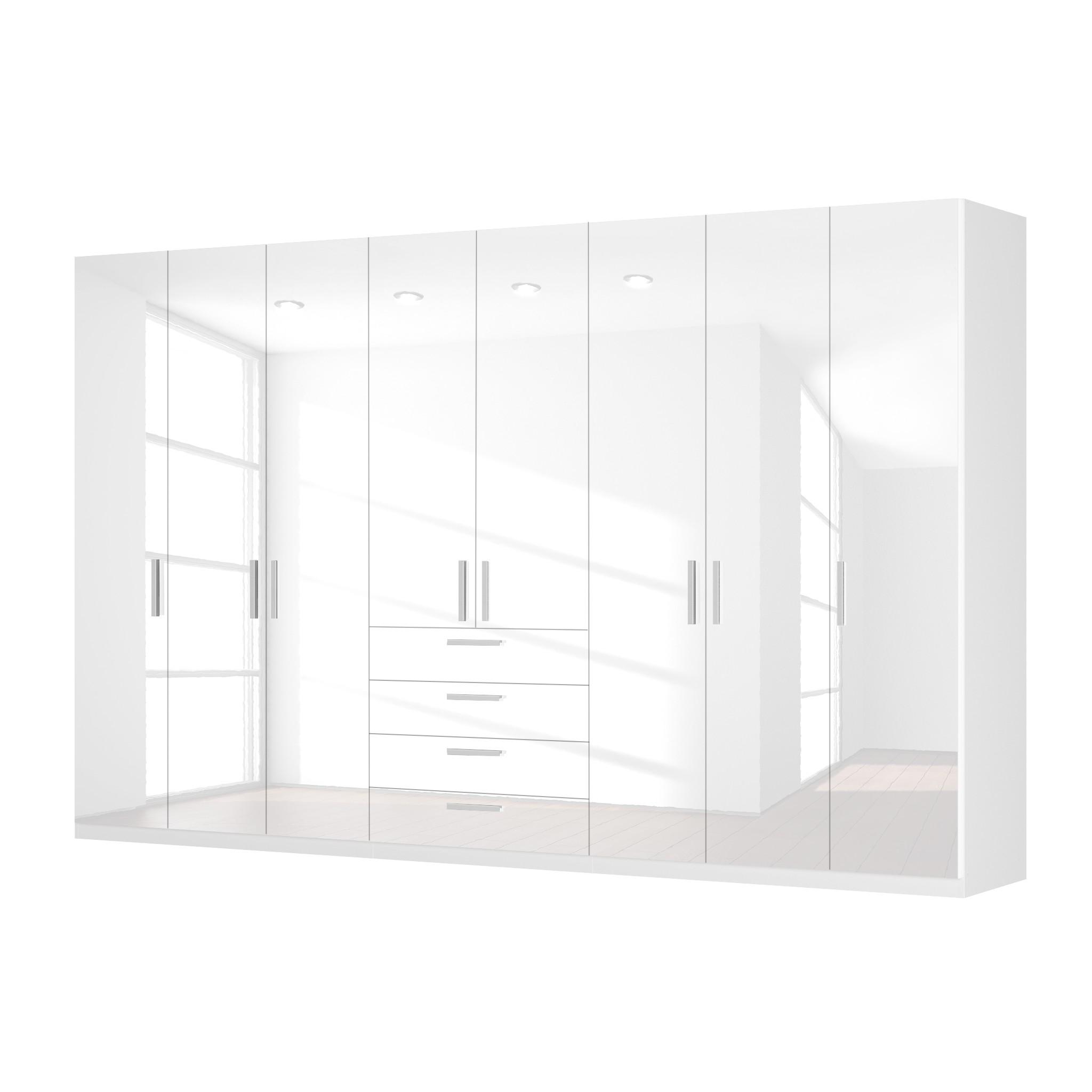 Draaideurkast Skøp II - hoogglans wit - 360cm (8-deurs) - 222cm - Premium, SKØP