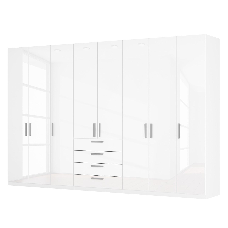 Drehtürenschrank SKØP II - Hochglanz Weiß - 360 cm (8-türig) - 236 cm - Basic