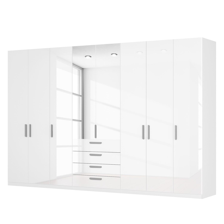 Drehtürenschrank SKØP II - Hochglanz Weiß/ Kristallspiegel - 360 cm (8-türig) - 236 cm - Premium