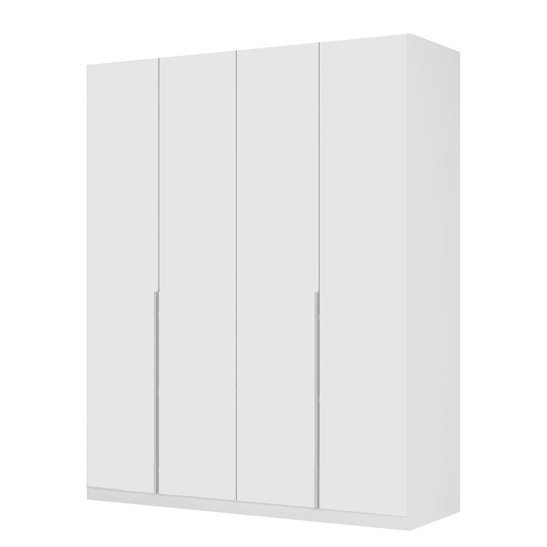 Armoire à portes battantes Skøp II - Verre mat blanc - 181 cm (4 portes) - 222 cm - Basic, SKØP