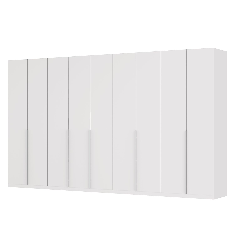 Drehtürenschrank SKØP II - Mattglas Weiß - 405 cm (9-türig) - 236 cm - Basic