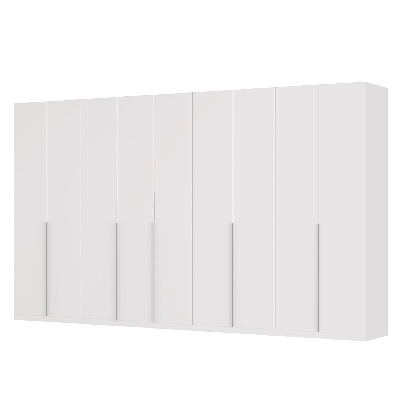 Drehtürenschrank SKØP II - Mattglas Weiß - 405 cm (9-türig) - 236 cm - Premium