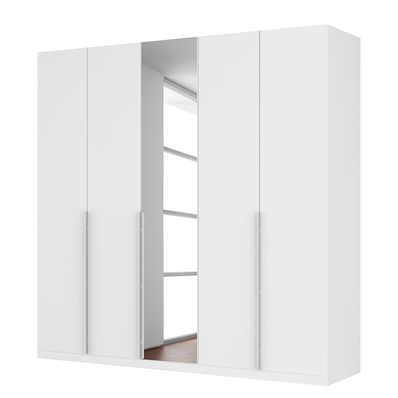 Draaideurkast Skøp II - hoogglans wit/kristalspiegel - 225cm (5-deurs) - 222cm - Classic, SKØP