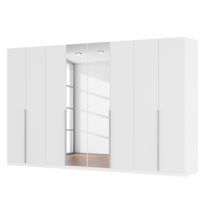 Drehtürenschrank SKØP II - Mattglas Weiß/ Kristallspiegel - 360 cm (8-türig) - 222 cm - Classic
