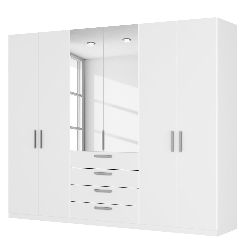 Draaideurkast Skøp III - alpinewit/kristalspiegel - 270cm (6-deurs) - 222cm - Premium, SKØP