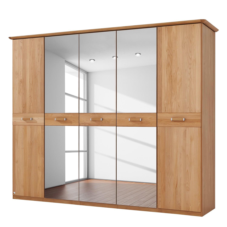 Deels massieve draaideurkast Valerie - elzenhout - 235cm (5-deurs) - 214cm - Met kroonlijst, Rauch Steffen