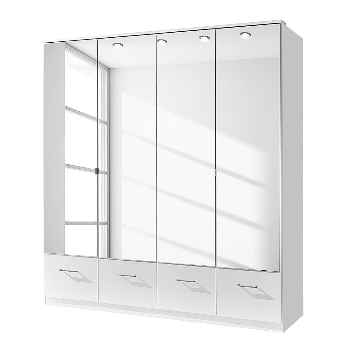 Armoire à portes battantes Vanity (avec tiroirs) – Blanc alpin - Largeur 90 cm, Wimex