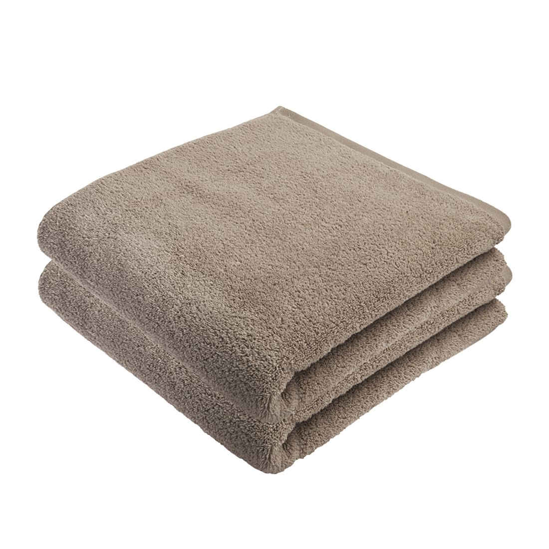 Home 24 - Service de bain pure (lot de 2) - coton - beige, stilana