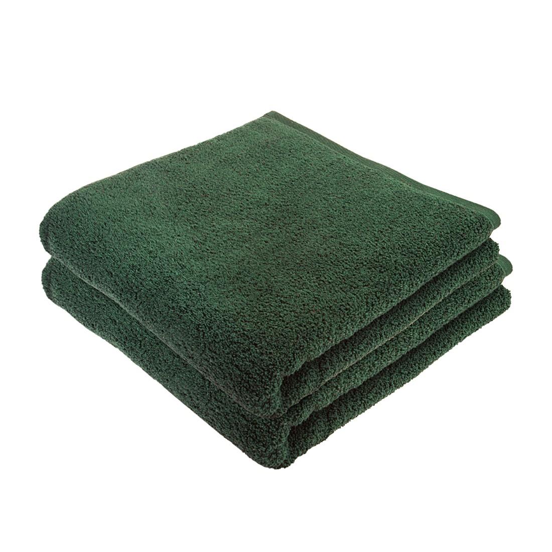 Home 24 - Service de bain pure (lot de 2) - coton - vert, stilana