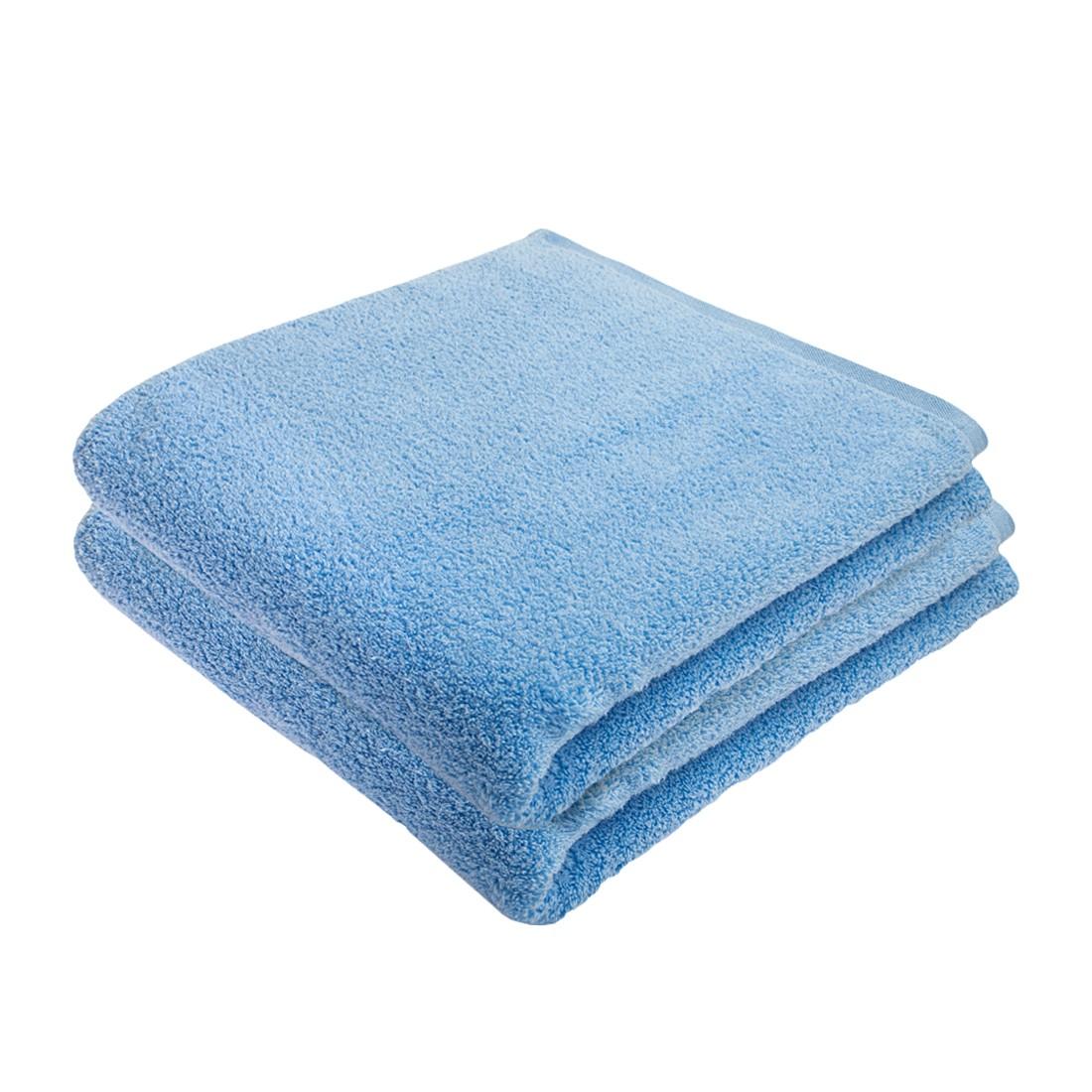 Home 24 - Service de bain pure (lot de 2) - coton - bleu clair, stilana